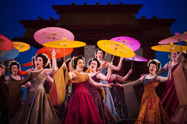 The Chorus of The Mikado. Scottish Opera and D'Oyly Carte 2016. Credit James Glossop.